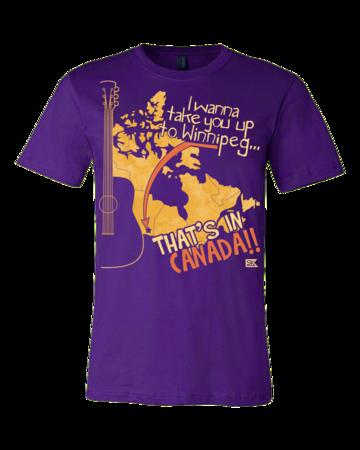 "Starkid Winnipeg ""That's In Canada"" Standard Purple Blank with Depth Front"