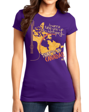 "Starkid Winnipeg ""That's In Canada"" Girly Purple Stock Model Front 1 Thumb Front"