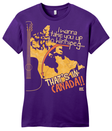 "Starkid Winnipeg ""That's In Canada"" Girly Purple Blank with Depth Front"