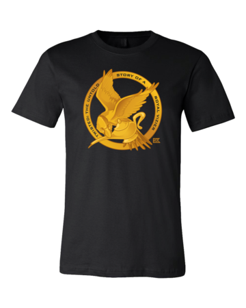 StarKid Twisted Mockingjay Logo Tee Standard Black Blank with Depth Front