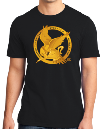 StarKid Twisted Mockingjay Logo Tee Standard Black Stock Model Front 1 Thumb Front