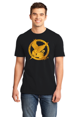 StarKid Twisted Mockingjay Logo Tee Standard Black Stock Model Front 1 Front
