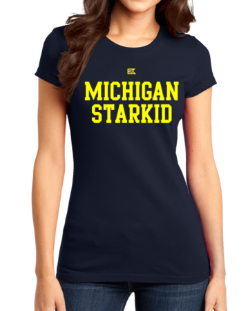 Michigan Starkid Girly Navy Stock Model Front 1 Thumb Front