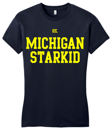 Michigan Starkid Girly Navy Blank with Depth Front