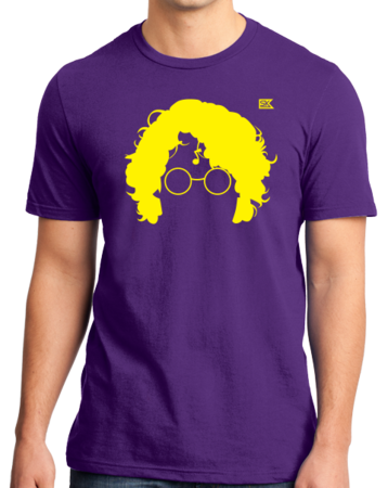 StarKid AVPM Profile Tee Standard Purple Stock Model Front 1 Thumb Front