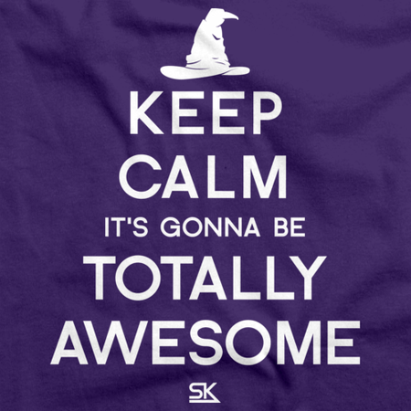 Keep Calm It's Gonna Be Totally Awesome Purple thumbnail
