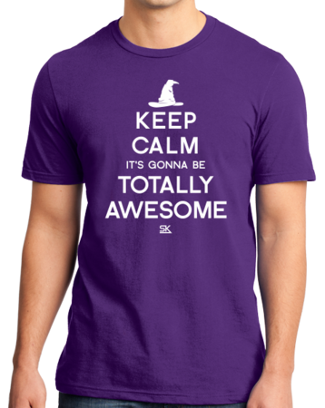 Keep Calm It's Gonna Be Totally Awesome Standard Purple Stock Model Front 1 Thumb Front