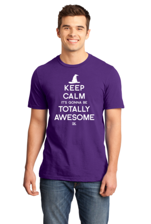 Keep Calm It's Gonna Be Totally Awesome Standard Purple Stock Model Front 1 Front