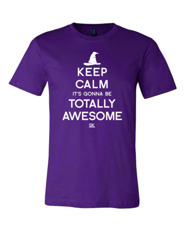 Keep Calm It's Gonna Be Totally Awesome Standard Purple Blank with Depth Front
