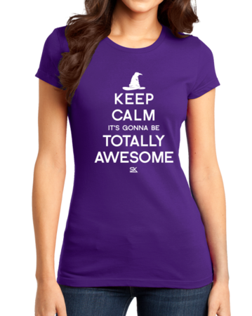 Keep Calm It's Gonna Be Totally Awesome Girly Purple Stock Model Front 1 Thumb Front