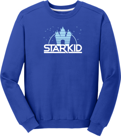 StarKid '2D' Logo Sweatshirt Crewneck Sweatshirt Royal Blue Blank with Depth Front