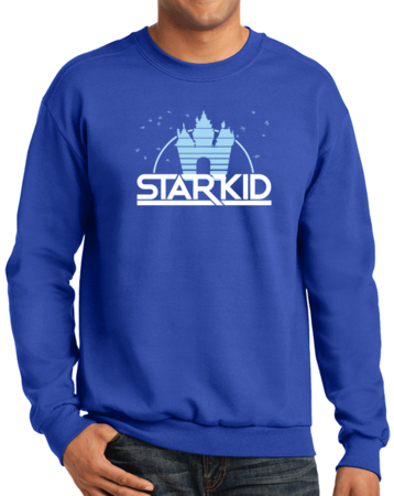 StarKid '2D' Logo Sweatshirt Crewneck Sweatshirt Royal Blue Stock Model Front 1 Thumb Front