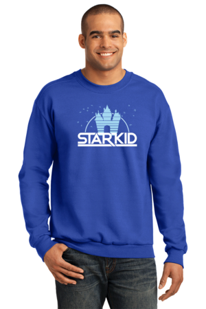 StarKid '2D' Logo Sweatshirt Crewneck Sweatshirt Royal Blue Stock Model Front 1 Front