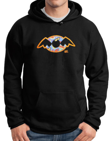 StarKid Holy Musical, B@man! Pullover Hoodie Pullover Hoodie Black Stock Model Front 1 Thumb Front