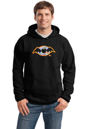 StarKid Holy Musical, B@man! Pullover Hoodie Pullover Hoodie Black Stock Model Front 1 Front