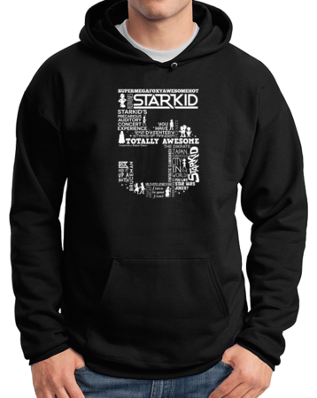 Team StarKid 5th Anniversary Sweatshirt Pullover Hoodie Black Stock Model Front 1 Thumb Front
