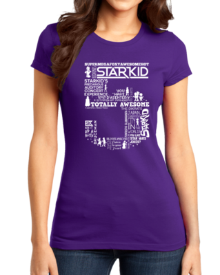 StarKid 5th Anniversary Hoodie Girly Purple Stock Model Front 1 Thumb Front
