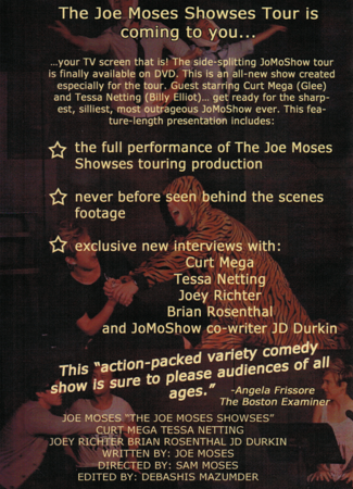The Joe Moses Showses DVD Back