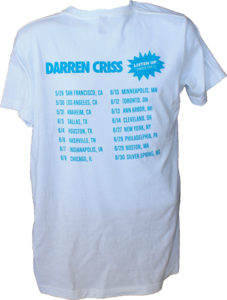 Darren Criss Listen Up Official Tour Shirt Back