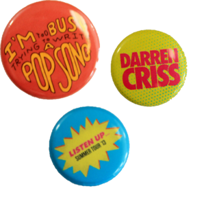 Darren Criss Listen Up Tour Pins