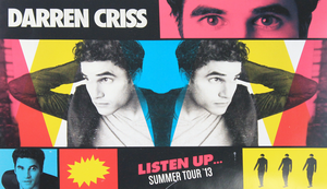 Darren Criss Listen Up Tour Poster