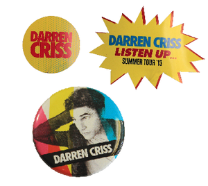 Darren Criss Listen Up $2 Sticker or Pin