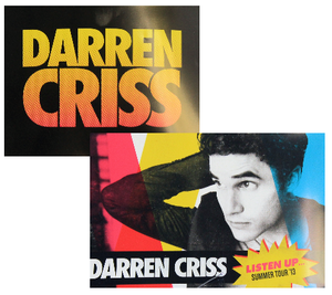 Darren Criss Listen Up Tour Bumper Stickers