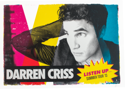 Darren Criss Listen Up Tour Limited Edition Screen Printed Poster