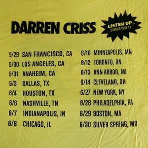 Darren Criss Listen Up Official VIP Shirt Back