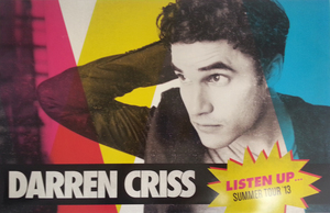 Darren Criss Listen Up Tour Promo Poster
