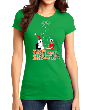 Joe Moses Holiday T-shirt 2012 Girly Green Stock Model Front 1 Thumb Front