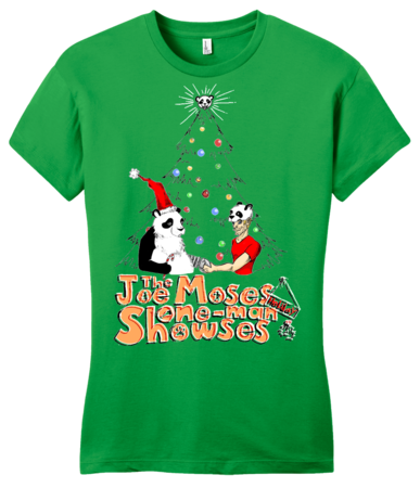 Joe Moses Holiday T-shirt 2012 Girly Green Blank with Depth Front