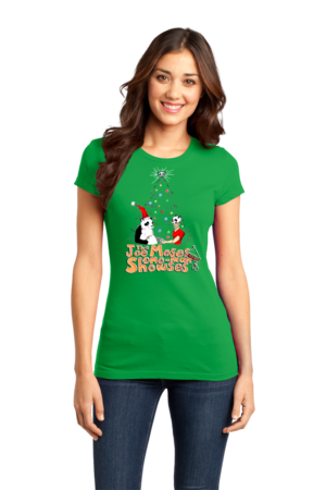Joe Moses Holiday T-shirt 2012 Girly Green Stock Model Front 1 Front