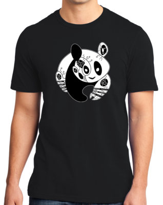 Joe Moses Black Panda Bear T-shirt