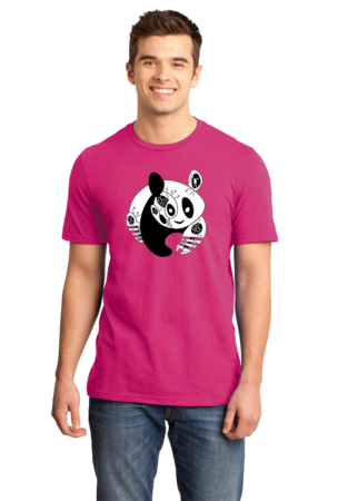 Joe Moses Panda Logo Tee Standard Hot Pink Stock Model Front 1 Front
