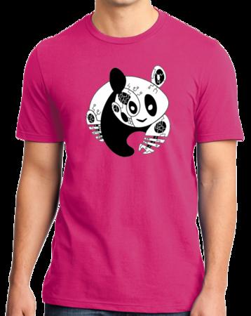 Joe Moses Panda Logo Tee Standard Hot Pink Stock Model Front 1 Thumb Front