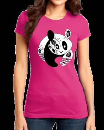 Joe Moses Panda Logo Tee Girly Hot Pink Stock Model Front 1 Thumb Front