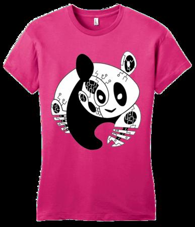 Joe Moses Panda Logo Tee Girly Hot Pink Blank with Depth Front