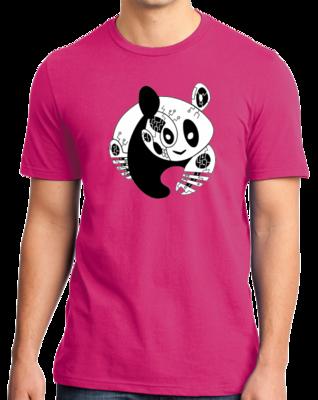 Joe Moses Pink Panda Logo T-shirt