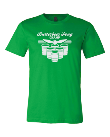Butterbeer Pong Standard Green Blank with Depth Front