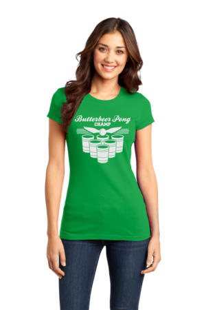 Butterbeer Pong Girly Green Stock Model Front 1 Front