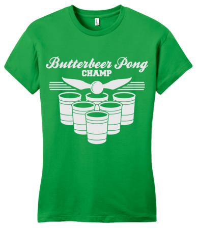 Butterbeer Pong Girly Green Blank with Depth Front