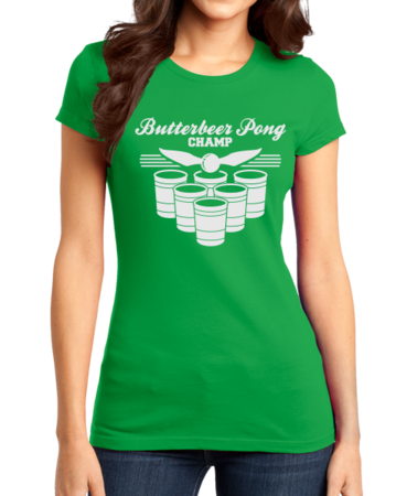 Butterbeer Pong Girly Green Stock Model Front 1 Thumb Front