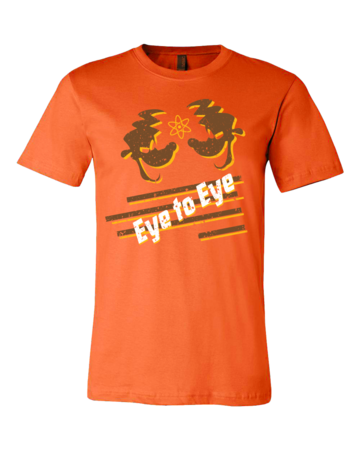 Eye to Eye Goofy Movie Inspired Tee Standard Orange Blank with Depth Front