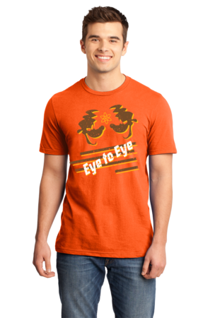 Eye to Eye Goofy Movie Inspired Tee Standard Orange Stock Model Front 1 Front