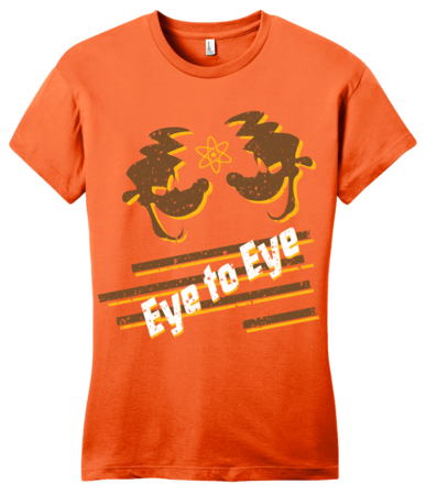 Eye to Eye Goofy Movie Inspired Tee Girly Orange Blank with Depth Front