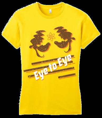 Eye to Eye Goofy Movie Inspired Tee Girly Yellow Blank with Depth Front