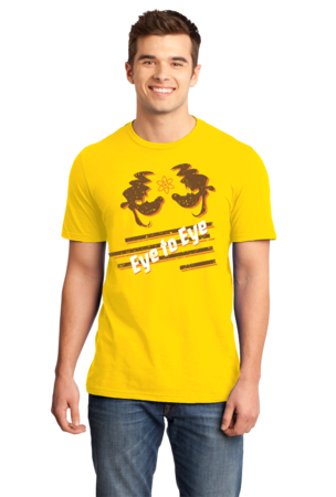 Eye to Eye Goofy Movie Inspired Tee Standard Yellow Stock Model Front 1 Front