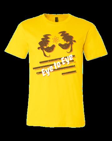 Eye to Eye Goofy Movie Inspired Tee Standard Yellow Blank with Depth Front