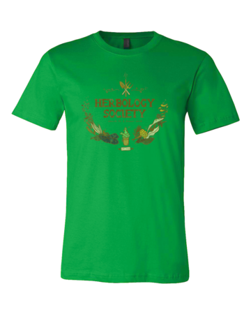 Herbology Society Harry Potter Inspired Fan Tee Standard Green Blank with Depth Front